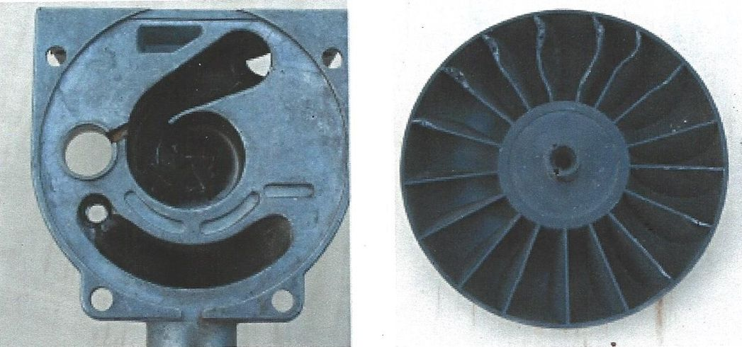Combustion impeller damage